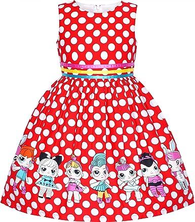 Sunny Fashion Girld Dress Red Tartan Sundress Kids Clothing Size 4 5 6 7 8 9 10