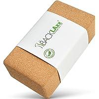 BACKLAxx® Yogablok van kurk - 100% natuurlijk yogablok duurzaam - yogablok huidvriendelijk en ecologisch geproduceerd…