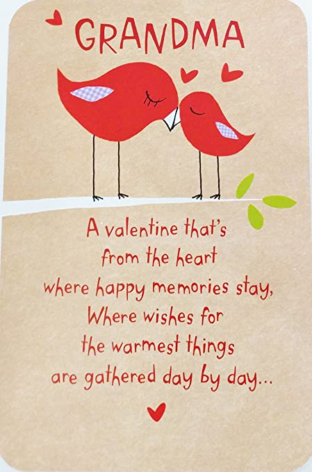 Grandma A Valentine Thats From The Heart Happy Valentines Day Greeting Card For Grandmother