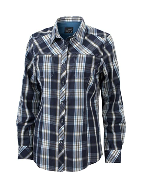 James & Nicholson Ladies UV-Protect Trekking Shirt Long-Sleeved, Blusa para