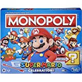 Monopoly Super Mario Celebration Edition Board Game for Super Mario Fans for Ages 8 and Up, With Video Game Sound…