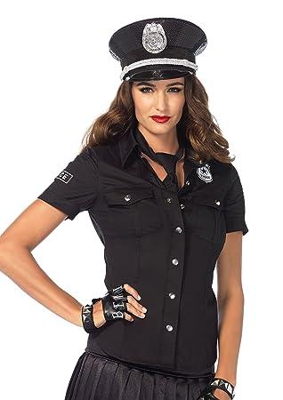 Leg Avenue 2640 2tl Kostum Set Polizeihemd Grosse M Schwarz