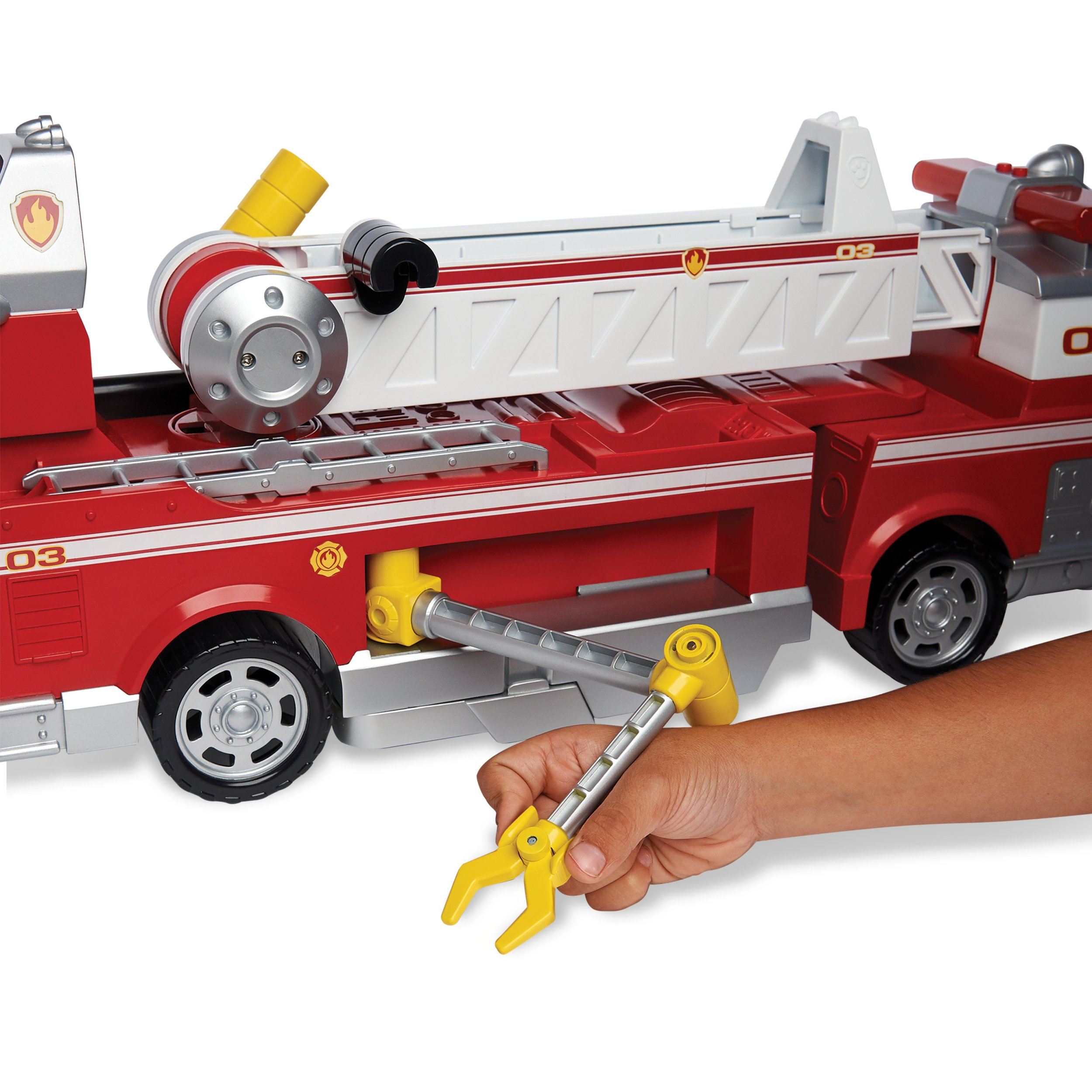 PAW Patrol - Ultimate Rescue Fire Truck with Extendable 2 ft. Tall Ladder, for Ages 3 and Up by Paw Patrol (Image #9)