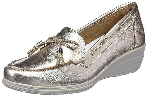 24 HORAS 23522, Mocasines para Mujer, Dorado (Champan 3), 36 EU: Amazon.es: Zapatos y complementos