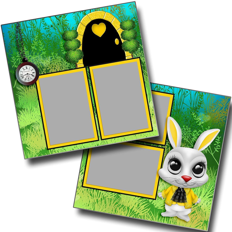 EZ Layout 3994 Premade Scrapbook Pages The White Rabbit Alice in Wonderland