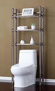 Amazon.com: Sleek Contemporary Style Duplex Over The Toilet Bathroom ...