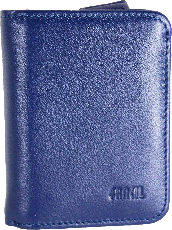 8 Couleurs Disponible Bleu Petit Porte Monnaie en Cuir r/éf FA209