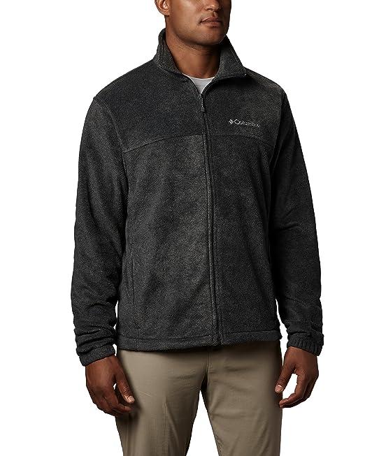 Columbia Mens Steens Mountain Full Zip 2.0 Fleece Jacket, Charcoal Heather, XX-Large