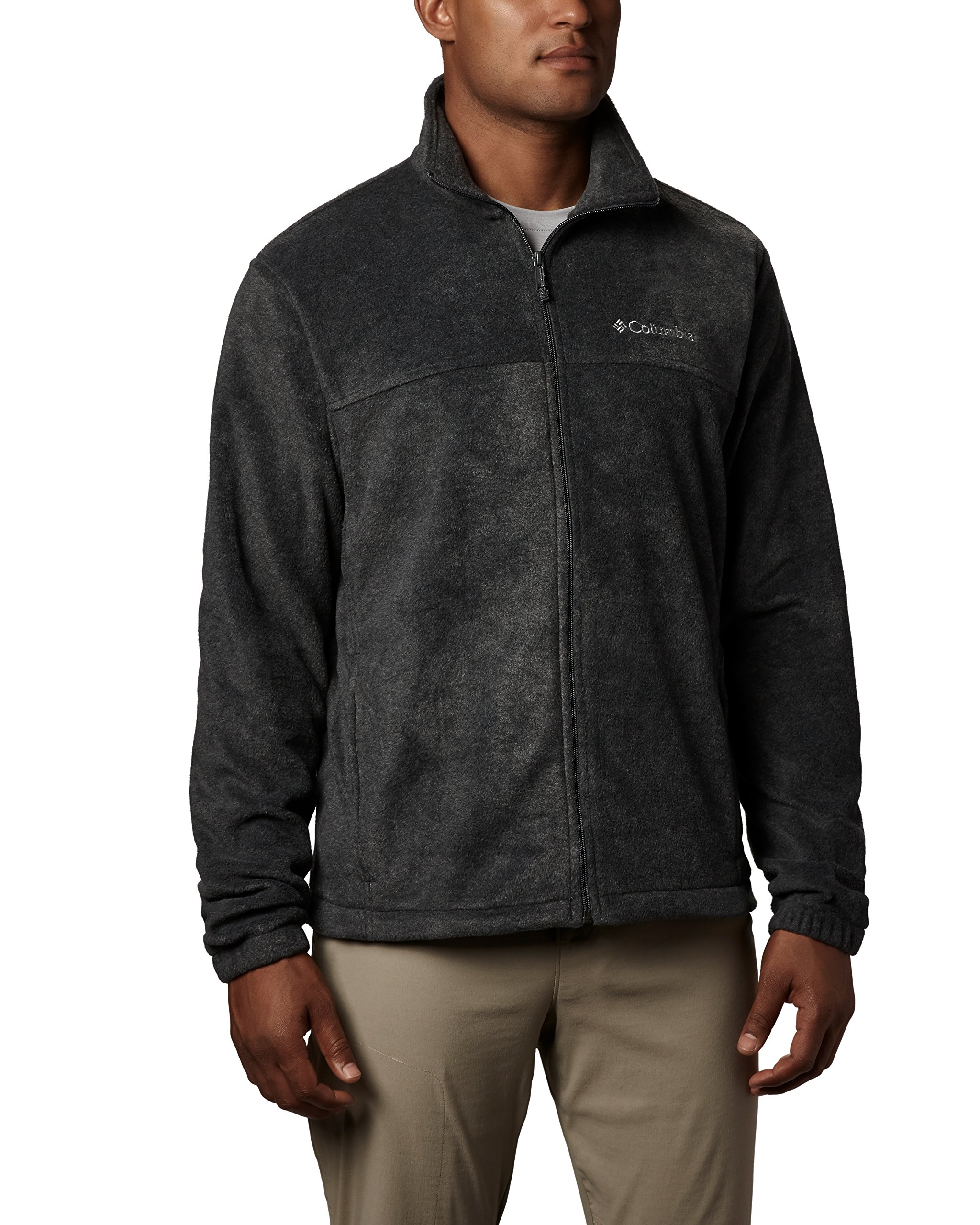 Columbia Men's Steens Mountain Full Zip 2.0 Soft Fleece Jacket, Charcoal Heather, Medium