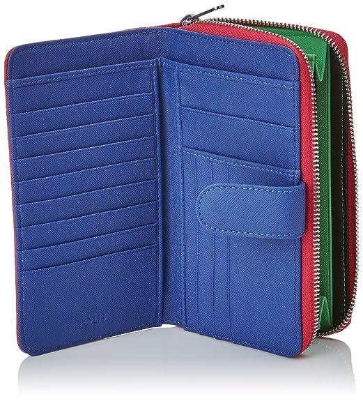 02d4d8b66 Amazon.com: Tous Dubai Saffiano 395970313, Women's Wallet, Rosa  (Tri/Fucsia), 2.5x11x18 cm (W x H L): Shoes