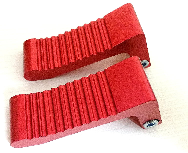 color rojo Pinzas antideslizantes para pie para moto mini de 49 cc Orange Imports FP009