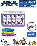 4 X 5L FRESH PET Kennel/Cattery Disinfectant, Cleaner, Deodoriser (LAVENDER)