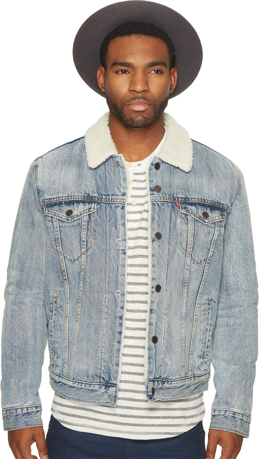 Levi's Mens  Men's Type III Sherpa Trucker Jacket Fine Line Outerwear