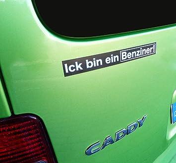 Camayer 2 Lustige Auto Aufkleber Fahrzeug Sticker Ick Bin Ein Benziner Witzig Als Gag Gegen Das Diesel Fahrverbot In Deutschen Städten Abgasskandal