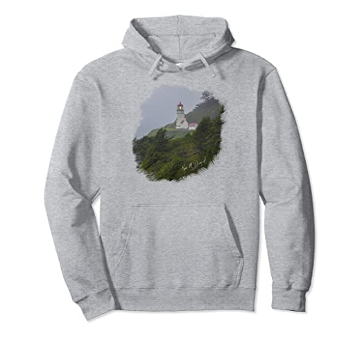 Lighthouse in Fog Pullover Hoodie