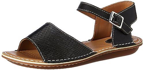 ede004215f7 Clarks Women s Black Combi Leather Fashion Sandals - 3 UK India (35.5 ...