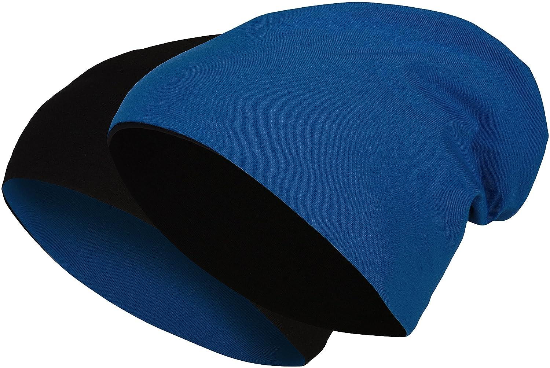 Reversible Slouch Gorro Largo Algod/ón Jersey El/ástico Hombres Unisex Gorro Mujer Heather en 24 8 Balinco 2 en 1 Pasamonta/ñas