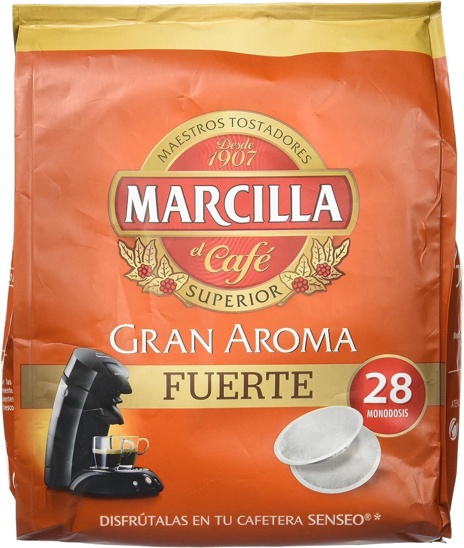 Marcilla Senseo Fuerte - 28 Monodosis - Pastillas superior de café ...
