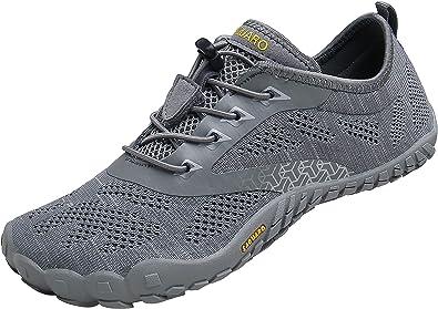 Hombre Zapatilla Minimalista de Barefoot Trail Running Zapatillas de Deporte,Tejer Gris,41: Amazon.es: Zapatos y complementos