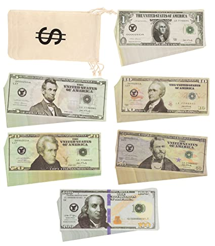 amazon com play money real looking double sided prop money set