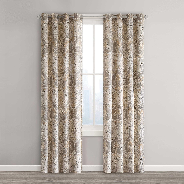 amazoncom echo design jaipur window curtain  x  saffron  - amazoncom echo design jaipur window curtain  x  saffron home kitchen