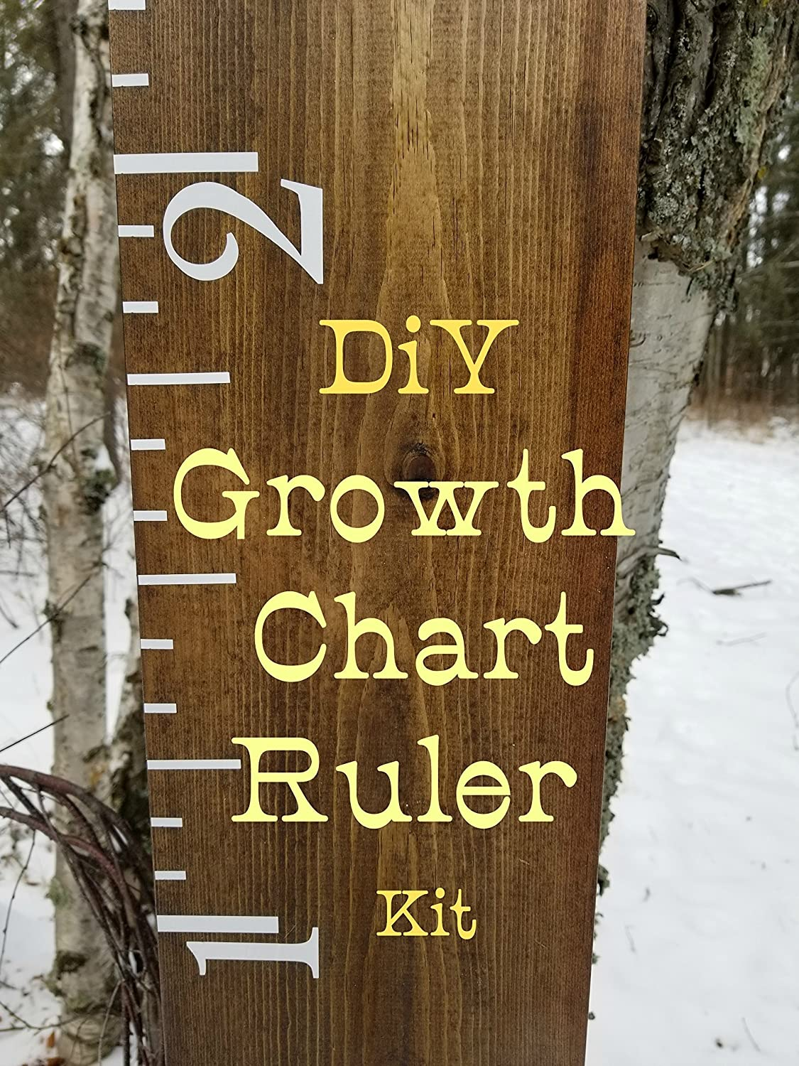 DiY Growth Chart Ruler Markings Kit