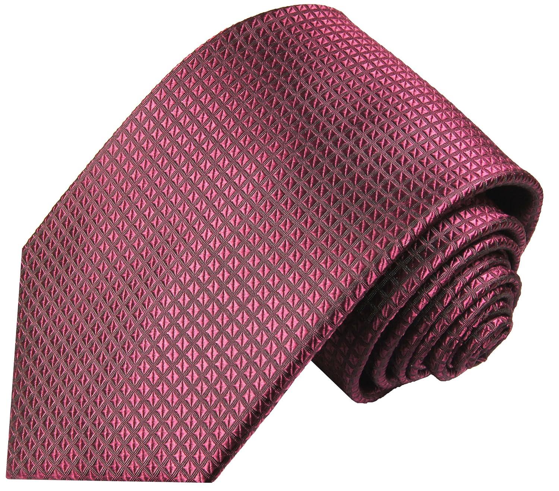 P.M. Krawatten Paul Malone Corbata de seda frambuesa (165cm extra ...