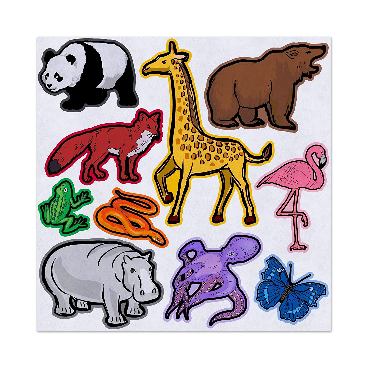 Learning Colors with Zoo Animals Felt Play Art Set Flannel Board Story Storyboard Pieces