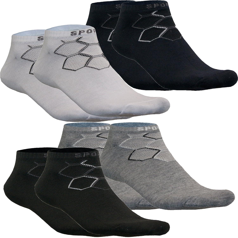 Sneaker Sport Kurz Socken Füßlinge Herren Baumwolle mit Motiv Muster Uni Classic von SGS
