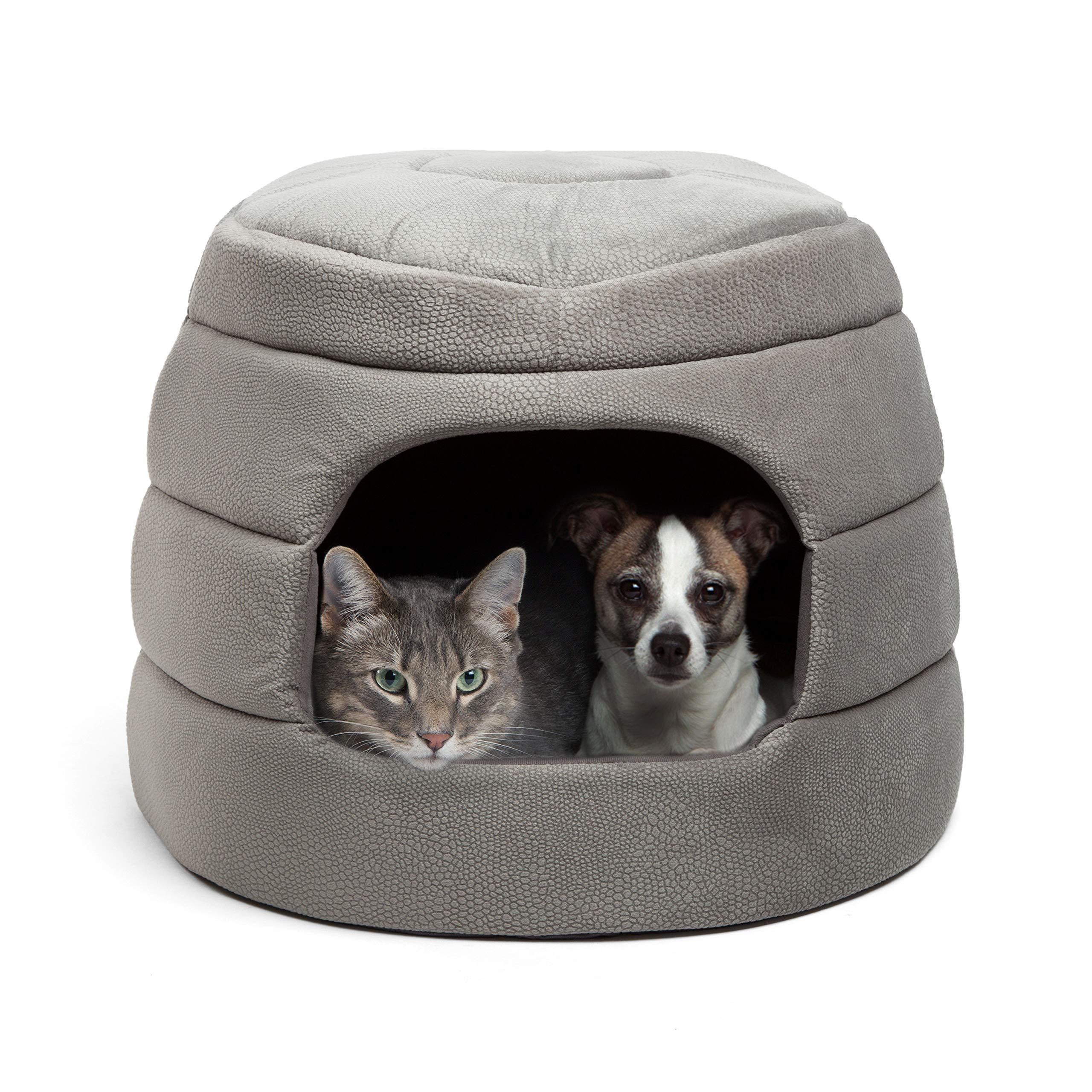 Best Friends by Sheri Honeycomb Hut-Cuddler, Grey, Jumbo by Best Friends by Sheri