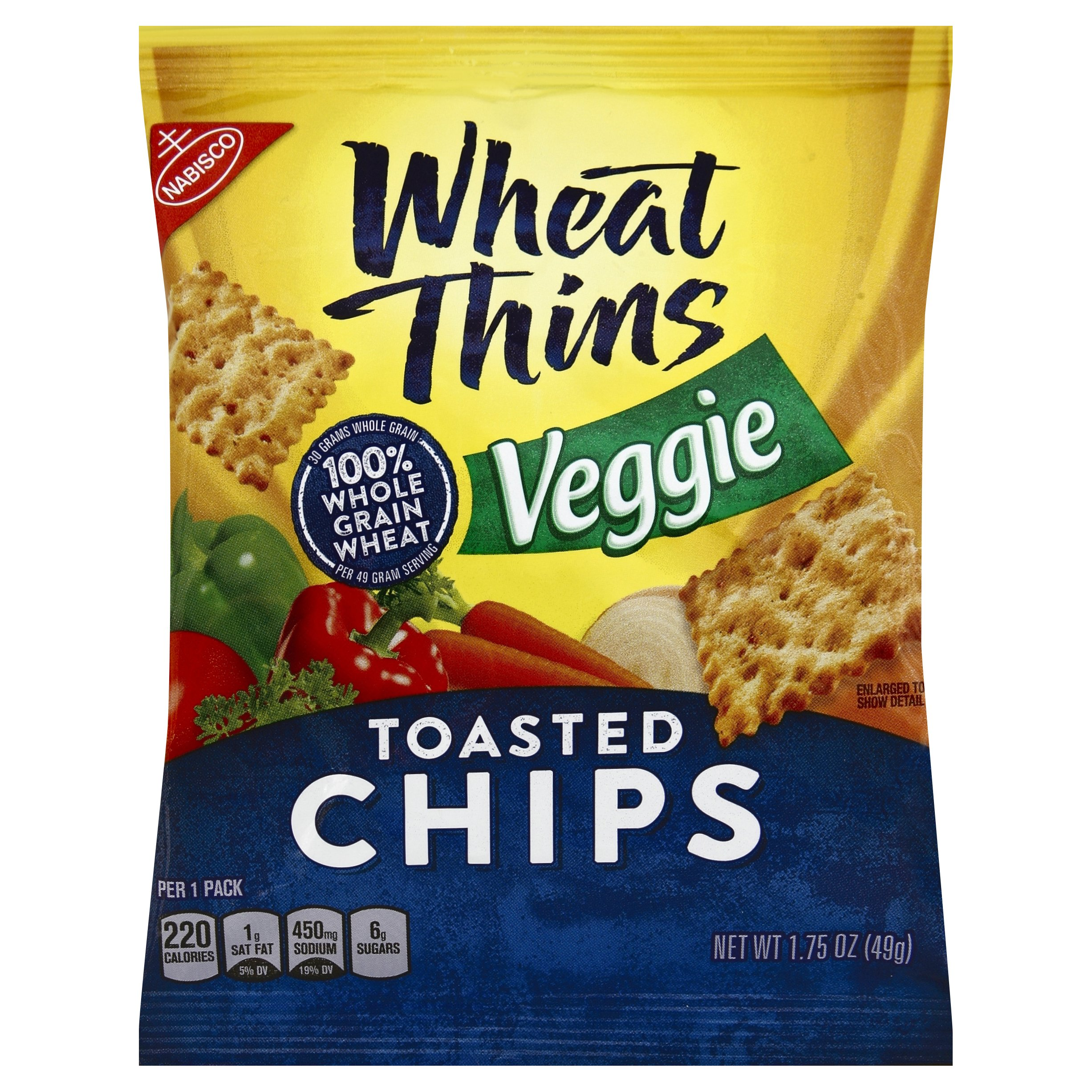 Wheat Thins Toasted Chips, Veggie, 1.75 Ounce (Pack of 60) by Wheat Thins