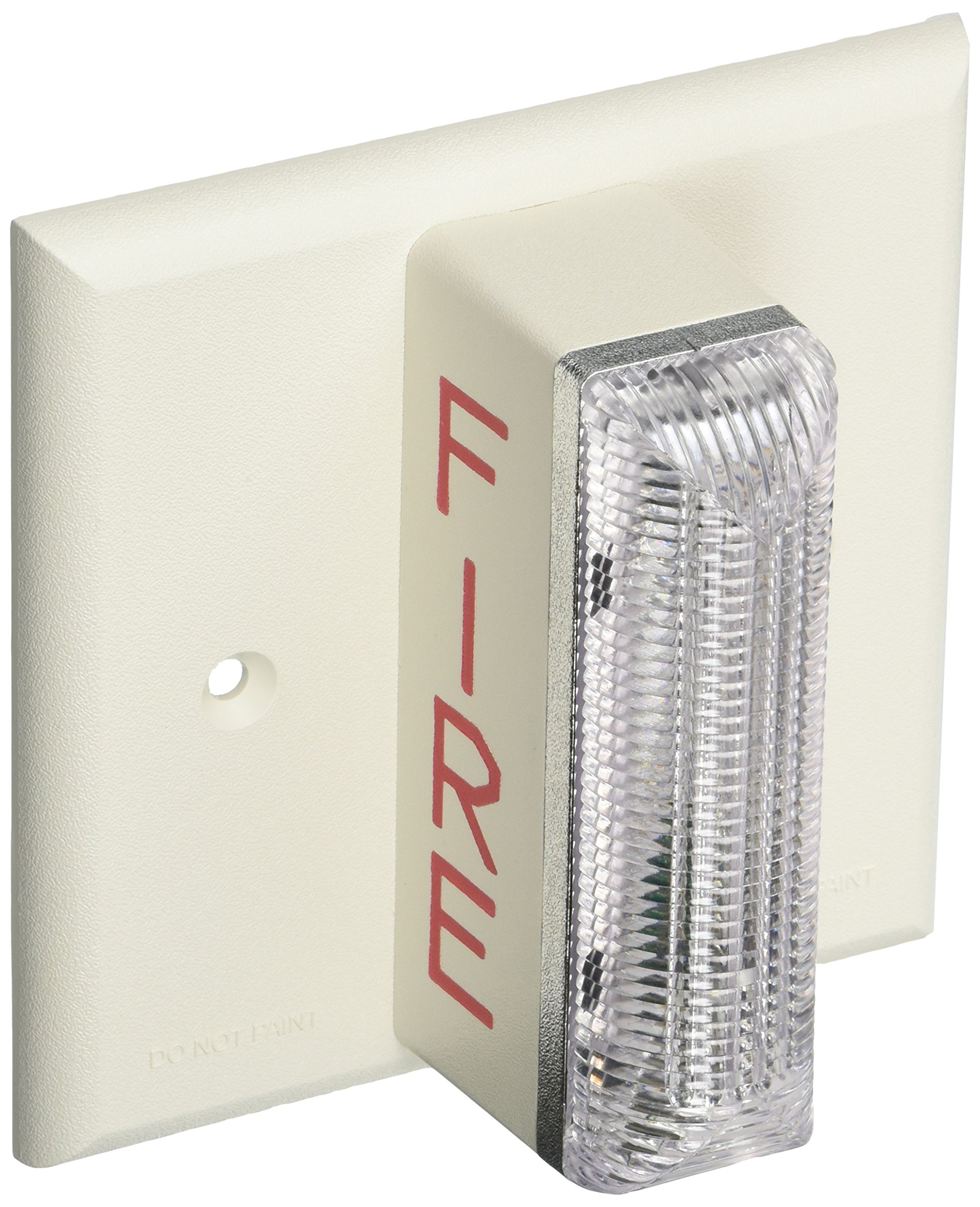 Gentex GXS-120177WW Fire Evacuation, 120VAC Remote Evacuation Strobe - Off-White Faceplate