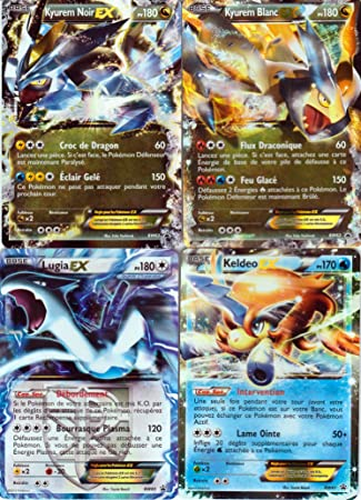 Lote de 4 cartas Pokemon EX: Kyurem blanco y negro, Lugia y ...