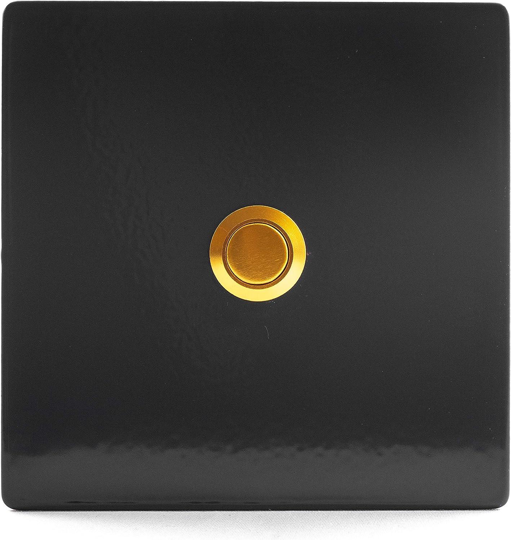 TronicXL Plaque de sonnette en acier inoxydable avec bouton-poussoir Anthracite