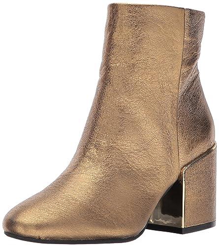 07e020431 Kenneth Cole New York Women's Reeve 2 Block Heel Metal Welt Ankle Bootie