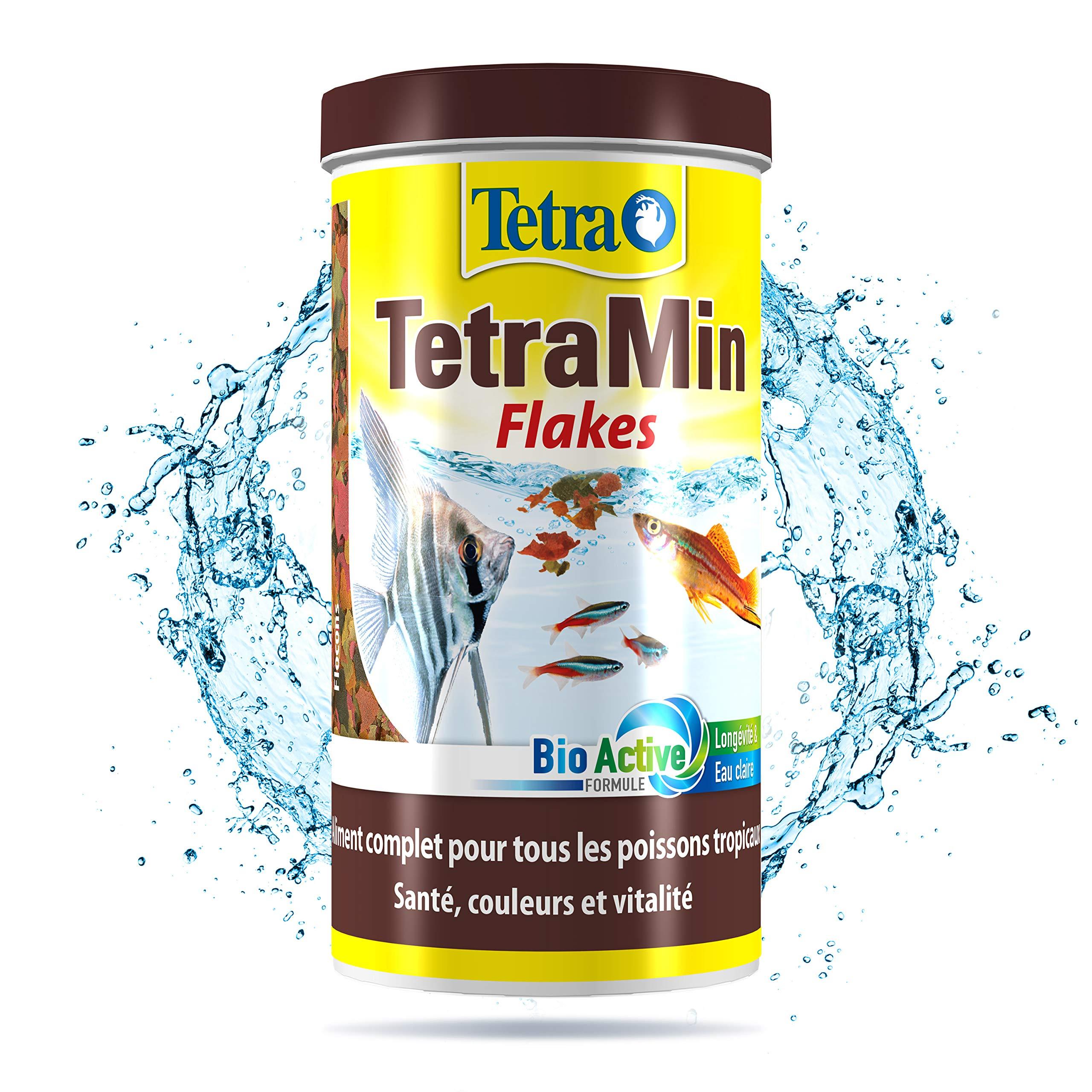 Tetra TetraMin - Aliments Premium Complet pour tous les Poissons Tropicaux - Favorise la Croissance la santé et la Longévité - Renforce la Couleur- en Flocons - 250 ml product image