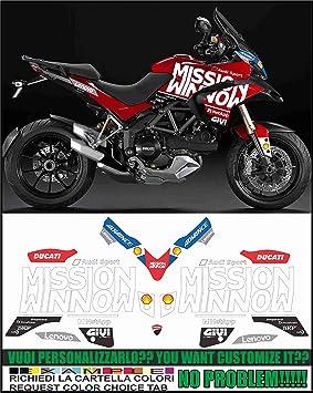Kit adesivi Decal stikers Ducati MULTISTRADA 1200 2013-2014 Moto GP 2019 Tribute Replica: Amazon.es: Coche y moto