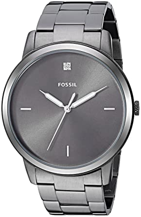 e2cba9eca521 Fossil Men s The The Minimalist 3H Quartz Stainless-Steel-Plated Strap