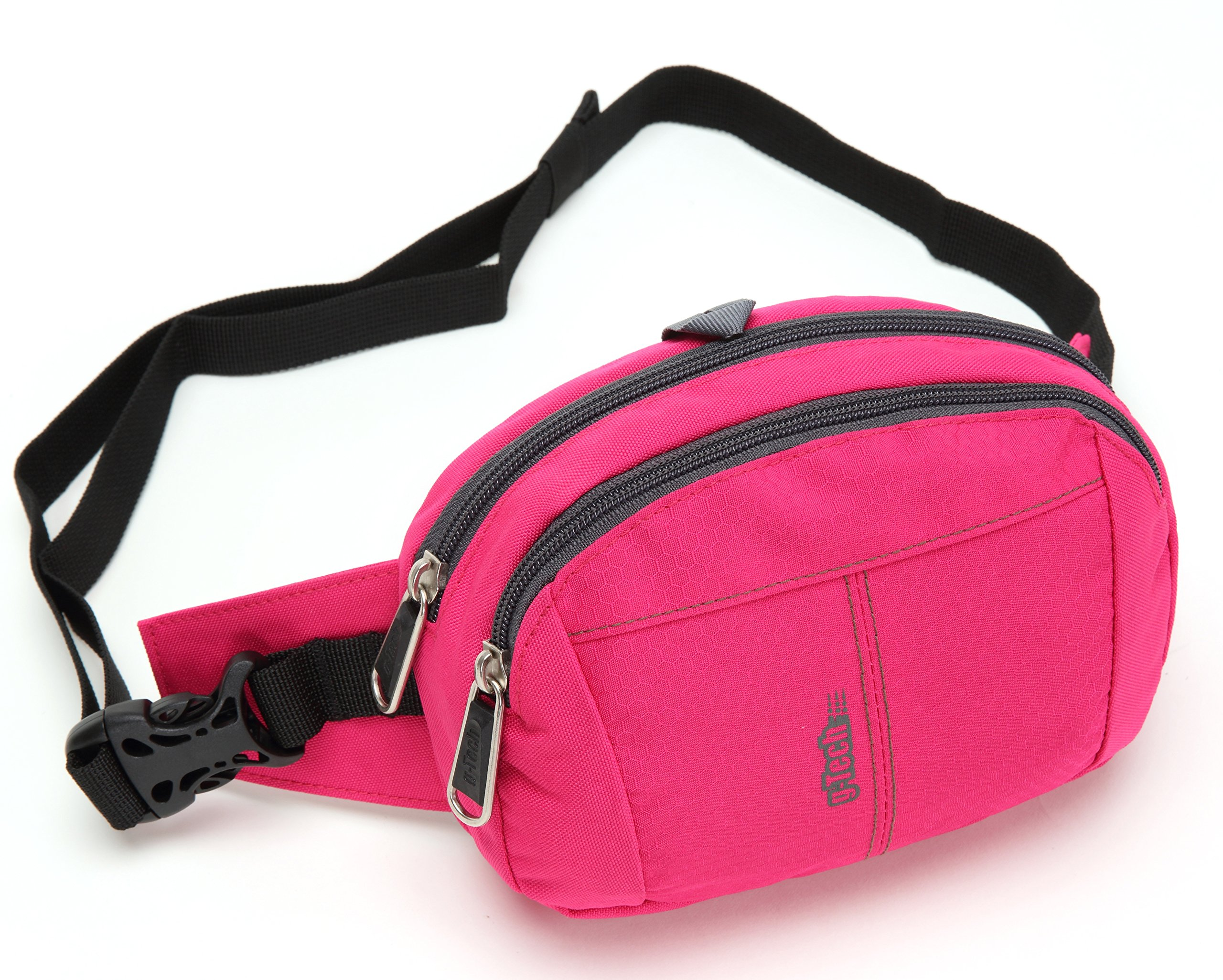 Fanny Pack Bag for Men Women Children Unisex Travel Waist Bag Pack Small Bumbags With Extra Waist Size (Pink)