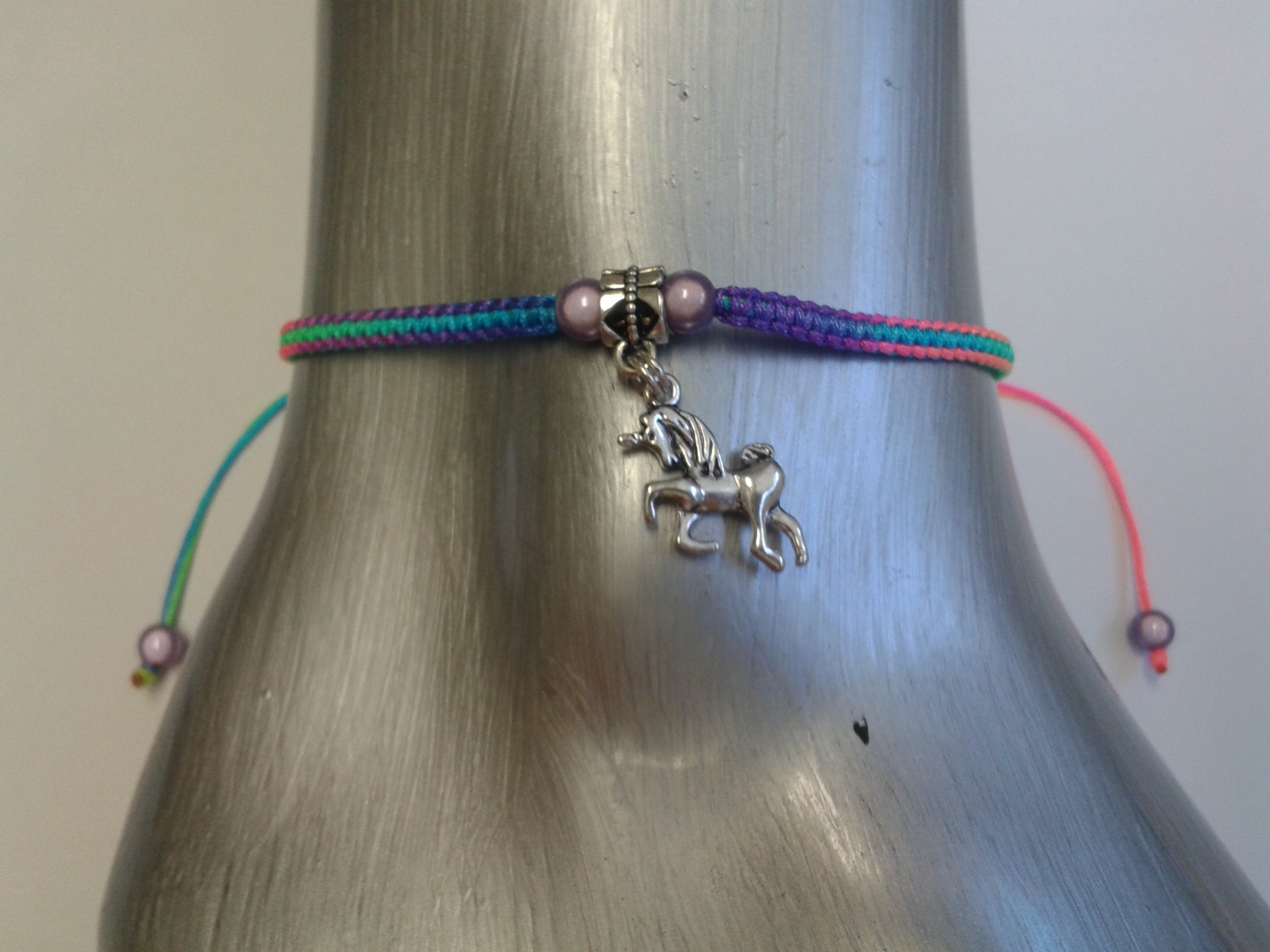 Rainbow unicorn anklet 3