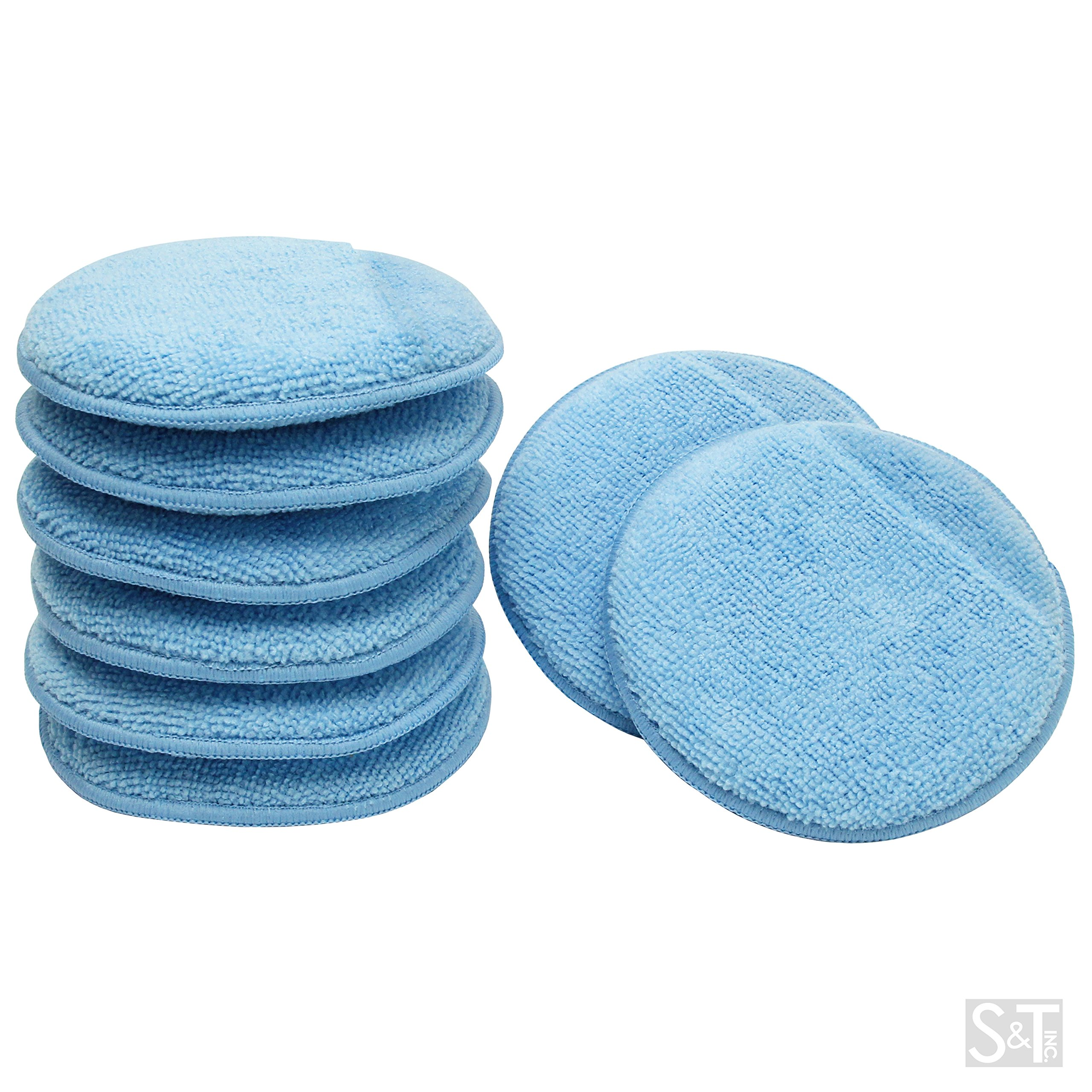 Galleon viking car care 426201 blue 8 microfiber applicator pads with finger pockets 8 pack