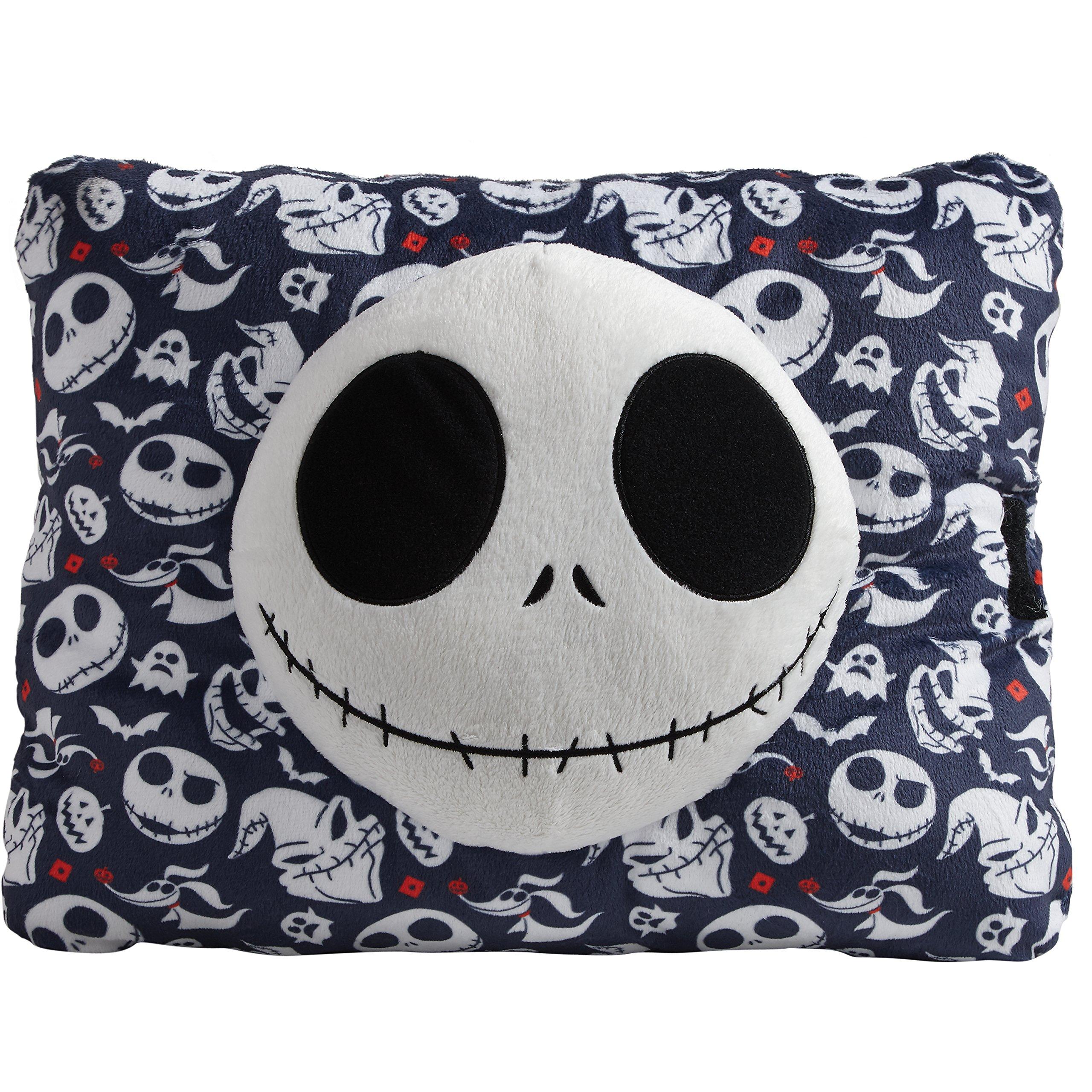 Pillow Pets Expressions, Disney Nightmare Before Christmas Jack Skellington Dark Blue 16'' Stuffed Animal Plush Toy