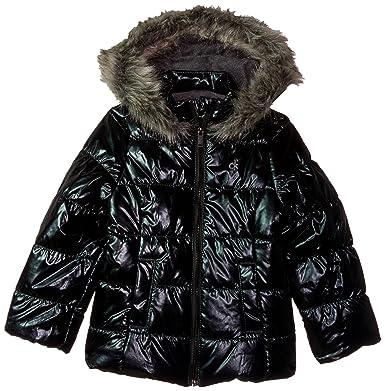 a2b6cf8c1af4 Amazon.com  Calvin Klein Girls  Metallic Puffer Jacket  Clothing