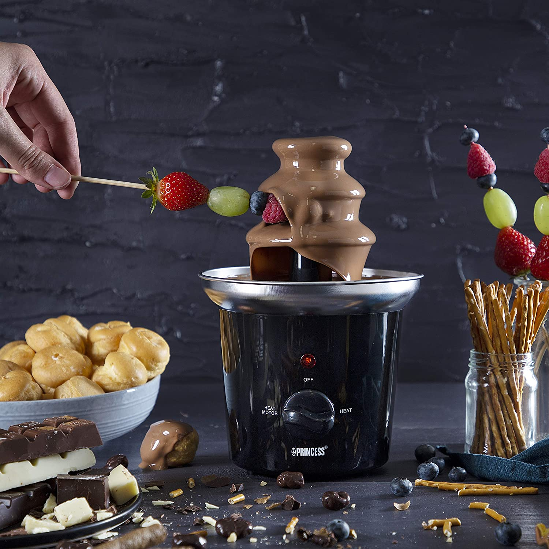 Princess 292994 - Fondue de chocolate, 3 niveles, función para mantener caliente: Amazon.es: Hogar