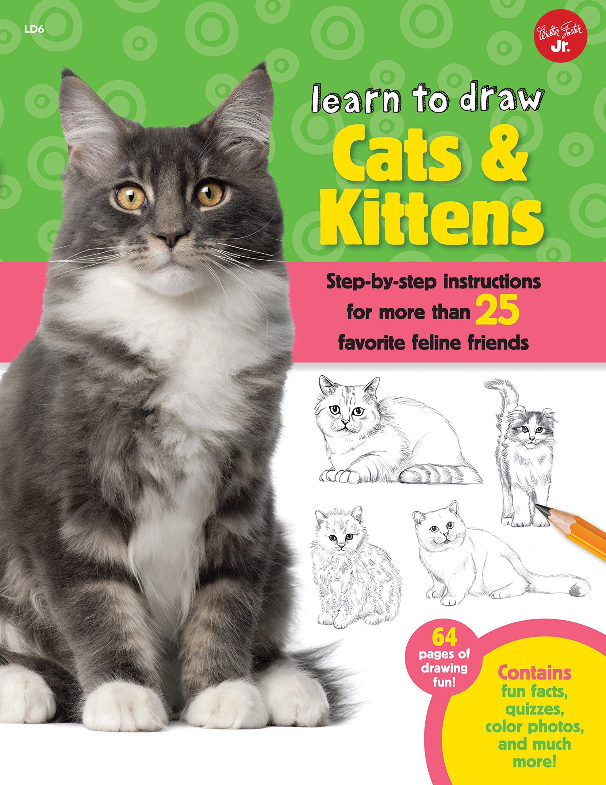 Download Learn to Draw Cats & Kittens: Step-by-step instructions for more than 25 favorite feline friends pdf