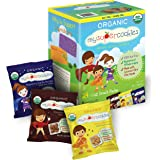 MySuperCookies Organic Whole Grain, Healthy Snacks for Kids — 24 Snack Packs, Peanut & Tree Nut Free, Kosher/Care Packages, B