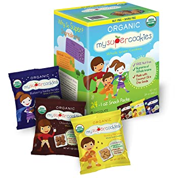9. MySuperCookies Organic Whole Grain Cookies (Variety Pack) – 24 Count