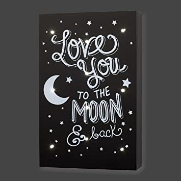 Amazon little love by nojo celestial lighted wall decor love little love by nojo celestial lighted wall decor love you to the moon and back aloadofball Choice Image