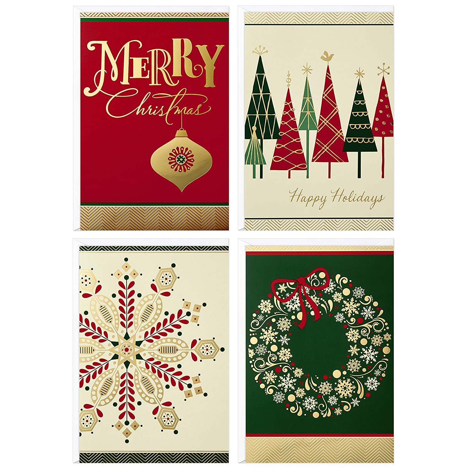 Image Arts Christmas Boxed Cards Assortment, Elegant Icons 4 Designs ...