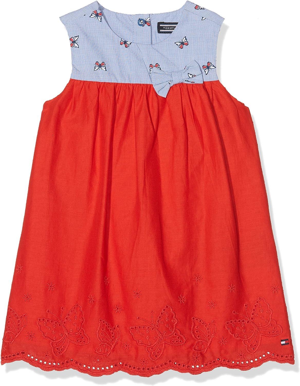 Tommy Hilfiger Sunny Butterflies Combi Dress Slvls Vestido para Bebés